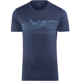 Icebreaker Tech Lite Pyrenees Shortsleeve Shirt Men blue